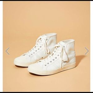 Gola coaster high off white sneakers